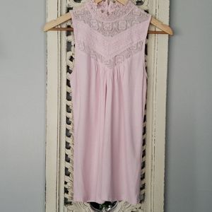 Kismet pink blouse top shirt extra small lace